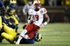 Nov 9, 2013; Ann Arbor, MI, USA; Nebraska Cornhuskers running back Ameer Abdullah (8) runs the ball in the second half against the Michigan Wolverines at Michigan Stadium. Mandatory Credit: Rick Osentoski-USA TODAY Sports