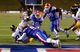 Nov 9, 2013; Ruston, LA, USA; Southern Miss Golden Eagles running back George Payne (24) is tackled in the end zone by Louisiana Tech Bulldogs defensive tackle DeAngelo Brooks (90) for a safety in the first quarter at Joe Aillet Stadium. Mandatory Credit: Chuck Cook-USA TODAY Sports