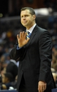 Nov 9, 2013; Memphis, TN, USA; Memphis Grizzlies head coach David Joerger reacts to a call during the game against Golden State Warriors during the second quarter at FedExForum. Mandatory Credit: Justin Ford-USA TODAY Sports