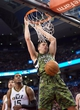 Nov 9, 2013; Toronto, Ontario, CAN; Toronto Raptors power forward Tyler Hansbrough (50) dunks the ball during the fourth period in a game at Air Canada Centre. The Toronto Raptors won 115-91. Mandatory Credit: Nick Turchiaro-USA TODAY Sports