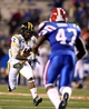Nov 9, 2013; Ruston, LA, USA; Southern Miss Golden Eagles running back Tyre Bracken (3) runs toward Louisiana Tech Bulldogs linebacker Daniel Cobb (47) during the second quarter at Joe Aillet Stadium. Mandatory Credit: Chuck Cook-USA TODAY Sports
