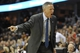 Nov 9, 2013; Cleveland, OH, USA; Philadelphia 76ers head coach Brett Brown yells in the third quarter against the Cleveland Cavaliers at Quicken Loans Arena. Mandatory Credit: David Richard-USA TODAY Sports