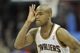 Nov 9, 2013; Cleveland, OH, USA; Cleveland Cavaliers point guard Jarrett Jack (1) celebrates after making a three-point basket in the first overtime against the Philadelphia 76ers at Quicken Loans Arena. Mandatory Credit: David Richard-USA TODAY Sports