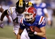 Nov 9, 2013; Ruston, LA, USA; Louisiana Tech Bulldogs running back Blake Martin (25) makes a run against the Southern Miss Golden Eagles during the second half at Joe Aillet Stadium. Mandatory Credit: Chuck Cook-USA TODAY Sports