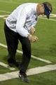 Nov 9, 2013; Las Vegas, NV, USA; Utah State Aggies head coach Matt Wells pumps his fist in celebration in the fourth quarter against the UNLV Rebels at Sam Boyd Stadium. Mandatory Credit: Stephen R. Sylvanie-USA TODAY Sports