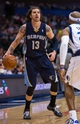 Nov 2, 2013; Dallas, TX, USA; Memphis Grizzlies small forward Mike Miller (13) looks to pass the ball against the Dallas Mavericks during the game at the American Airlines Center. The Mavericks defeated the Grizzlies 111-99. Mandatory Credit: Jerome Miron-USA TODAY Sports