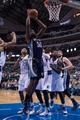 Nov 2, 2013; Dallas, TX, USA; Memphis Grizzlies power forward Zach Randolph (50) shoots the ball over Dallas Mavericks shooting guard Vince Carter (25) and small forward Shawn Marion (0) and center DeJuan Blair (45) during the game at the American Airlines Center. The Mavericks defeated the Grizzlies 111-99. Mandatory Credit: Jerome Miron-USA TODAY Sports