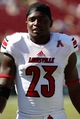 Oct 26, 2013; Tampa, FL, USA; Louisville Cardinals running back Brandon Radcliff (23) against the South Florida Bulls during the second half at Raymond James Stadium. Mandatory Credit: Kim Klement-USA TODAY Sports