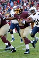 Nov 3, 2013; Landover, MD, USA; Washington Redskins running back Alfred Morris (46) carries the ball against the San Diego Chargers at FedEx Field. Mandatory Credit: Geoff Burke-USA TODAY Sports