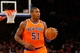 Nov 10, 2013; New York, NY, USA;  New York Knicks small forward Metta World Peace (51) advances the ball during the first quarter against the San Antonio Spurs at Madison Square Garden. Mandatory Credit: Anthony Gruppuso-USA TODAY Sports