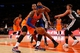 Nov 10, 2013; New York, NY, USA;  New York Knicks small forward Carmelo Anthony (7) looks to the net during the second quarter against the San Antonio Spurs at Madison Square Garden. Mandatory Credit: Anthony Gruppuso-USA TODAY Sports