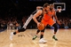 Nov 10, 2013; New York, NY, USA;  San Antonio Spurs shooting guard Marco Belinelli (3) drives past New York Knicks point guard Raymond Felton (2) during the third quarter at Madison Square Garden. Spurs won 120-89.  Mandatory Credit: Anthony Gruppuso-USA TODAY Sports