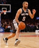 Nov 10, 2013; New York, NY, USA;  San Antonio Spurs point guard Tony Parker (9) drives to the net during the third quarter against the New York Knicks at Madison Square Garden. Spurs won 120-89.  Mandatory Credit: Anthony Gruppuso-USA TODAY Sports