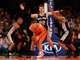 Nov 10, 2013; New York, NY, USA;  New York Knicks point guard Beno Udrih (18) is defended by San Antonio Spurs point guard Patty Mills (8) center Tiago Splitter (22) and small forward Kawhi Leonard (2) during the third quarter at Madison Square Garden. Spurs won 120-89.  Mandatory Credit: Anthony Gruppuso-USA TODAY Sports
