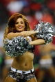Nov 10, 2013; Atlanta, GA, USA; An Atlanta Falcons cheerleader dances for the fans during the game against the Seattle Seahawks  during the second half at the Georgia Dome. The Seahawks defeated the Falcons 33-10. Mandatory Credit: Dale Zanine-USA TODAY Sports