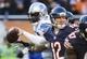Nov 10, 2013; Chicago, IL, USA;  Chicago Bears quarterback Josh McCown (12) throws against the Lions at Soldier Field. Mandatory Credit: Matt Marton-USA TODAY Sports