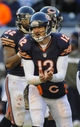 Nov 10, 2013; Chicago, IL, USA;  Chicago Bears quarterback Josh McCown (12) against the lions at Soldier Field. Mandatory Credit: Matt Marton-USA TODAY Sports