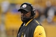Nov 10, 2013; Pittsburgh, PA, USA; Pittsburgh Steelers head coach Mike Tomlin on the sideline during the fourth quarter of a game against the Buffalo Bills at Heinz Field. Pittsburgh won the game 23-10. Mandatory Credit: Mark Konezny-USA TODAY Sports