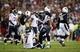 Nov 10, 2013; Phoenix, AZ, USA; Houston Texans running back Ben Tate (44) helps quarterback Case Keenum (7) get up during the game against the Arizona Cardinals at University of Phoenix Stadium. Arizona won 27-24. Mandatory Credit: Kevin Jairaj-USA TODAY Sports