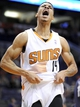 Nov 10, 2013; Phoenix, AZ, USA; Phoenix Suns shooting guard Gerald Green (14) celebrates after dunking the ball during the fourth quarter against the New Orleans Pelicans at US Airways Center. Mandatory Credit: Casey Sapio-USA TODAY Sports