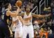 Nov 10, 2013; Phoenix, AZ, USA; Phoenix Suns power forward Markieff Morris (11) guards New Orleans Pelicans center Jason Smith (14) during the fourth quarter at US Airways Center. The Suns beat the Pelicans 101-94. Mandatory Credit: Casey Sapio-USA TODAY Sports