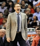Nov 10, 2013; Phoenix, AZ, USA; Phoenix Suns head coach Jeff Hornacek reacts to a call during the third quarter against the New Orleans Pelicans at US Airways Center. The Suns beat the Pelicans 101-94. Mandatory Credit: Casey Sapio-USA TODAY Sports