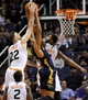 Nov 10, 2013; Phoenix, AZ, USA; Phoenix Suns power forward Miles Plumlee (22) and power forward Markieff Morris (11) and New Orleans Pelicans power forward Anthony Davis (23) battle for the rebound during the fourth quarter at US Airways Center. The Suns beat the Pelicans 101-94. Mandatory Credit: Casey Sapio-USA TODAY Sports