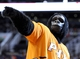 Nov 10, 2013; Phoenix, AZ, USA; The Phoenix Suns Gorilla interacts with fans during the fourth quarter against the New Orleans Pelicans at US Airways Center. The Suns beat the Pelicans 101-94. Mandatory Credit: Casey Sapio-USA TODAY Sports