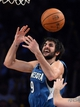 Nov 10, 2013; Los Angeles, CA, USA;  Minnesota Timberwolves point guard Ricky Rubio (9) misses a rebound in the second half of the game against the Los Angeles Lakers at Staples Center. Timberwolves won 113-90. Mandatory Credit: Jayne Kamin-Oncea-USA TODAY Sports