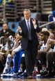 Nov 11, 2013; Philadelphia, PA, USA; Philadelphia 76ers head coach Brett Brown during the fourth quarter against the San Antonio Spurs at Wells Fargo Center. The Spurs defeated the Sixers 109-85. Mandatory Credit: Howard Smith-USA TODAY Sports