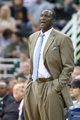 Nov 11, 2013; Salt Lake City, UT, USA; Utah Jazz head coach Tyrone Corbin during the first half against the Denver Nuggets at EnergySolutions Arena. Mandatory Credit: Russ Isabella-USA TODAY Sports