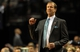 Nov 11, 2013; Portland, OR, USA; Portland Trail Blazers head coach Terry Stotts coaches from the sidelines during the first quarter against the Detroit Pistons at Moda Center. Mandatory Credit: Steve Dykes - USA TODAY Sports