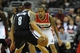 Nov 8, 2013; Washington, DC, USA; Washington Wizards point guard Eric Maynor (6) defends Brooklyn Nets point guard Deron Williams (8) during the first half at the Verizon Center. Mandatory Credit: Brad Mills-USA TODAY Sports