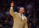 Nov 12, 2013; Los Angeles, CA, USA; New Orleans Pelicans coach Monty Williams reacts during the game against the Los Angeles Lakers at Staples Center. The Lakers defeated the Pelicans 116-95. Mandatory Credit: Kirby Lee-USA TODAY Sports