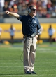 Nov 9, 2013; Berkeley, CA, USA; California Golden Bears defensive tackles coach Barry Sacks during the game against the Southern California Trojans at Memorial Stadium. USC defeated California 62-28. Mandatory Credit: Kirby Lee-USA TODAY Sports
