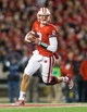 Nov 9, 2013; Madison, WI, USA; Wisconsin Badgers quarterback Joel Stave (2) during the game against the Brigham Young Cougars at Camp Randall Stadium. Wisconsin won 27-17.  Mandatory Credit: Jeff Hanisch-USA TODAY Sports