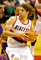 Nov 13, 2013; Portland, OR, USA; Portland Trail Blazers center Robin Lopez (42) drives to the basket against the Phoenix Suns at the Moda Center. Mandatory Credit: Craig Mitchelldyer-USA TODAY Sports