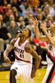 Nov 13, 2013; Portland, OR, USA; Portland Trail Blazers power forward Thomas Robinson (41) reacts after making a basket against the Phoenix Suns at the Moda Center. Mandatory Credit: Craig Mitchelldyer-USA TODAY Sports