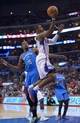 Nov 13, 2013; Los Angeles, CA, USA; Los Angeles Clippers guard Chris Paul (3) is defended by Oklahoma City Thunder forward Kevin Durant (35) at Staples Center. The Clippers defeated the Thunder 111-103. Mandatory Credit: Kirby Lee-USA TODAY Sports