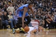 November 14, 2013; Oakland, CA, USA; Oklahoma City Thunder small forward Kevin Durant (35, top) fights for a loose ball with Golden State Warriors point guard Stephen Curry (30, bottom) during the second quarter at Oracle Arena. Mandatory Credit: Kyle Terada-USA TODAY Sports