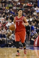 Nov 13, 2013; Philadelphia, PA, USA; Houston Rockets guard Jeremy Lin (7) brings the ball up court during the fourth quarter against the Philadelphia 76ers at Wells Fargo Center. The Sixers defeated the Rockets 123-117. Mandatory Credit: Howard Smith-USA TODAY Sports