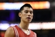 Nov 13, 2013; Philadelphia, PA, USA; Houston Rockets guard Jeremy Lin (7) during the fourth quarter against the Philadelphia 76ers at Wells Fargo Center. The Sixers defeated the Rockets 123-117. Mandatory Credit: Howard Smith-USA TODAY Sports