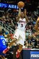 Nov 15, 2013; Atlanta, GA, USA; Atlanta Hawks shooting guard Louis Williams (3) shoots a basket in the second half against the Philadelphia 76ers at Philips Arena. The Hawks won 113-103. Mandatory Credit: Daniel Shirey-USA TODAY Sports