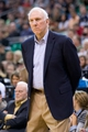 Nov 15, 2013; Salt Lake City, UT, USA; San Antonio Spurs head coach Gregg Popovich during the first half against the Utah Jazz at EnergySolutions Arena. Mandatory Credit: Russ Isabella-USA TODAY Sports
