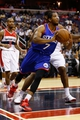 Nov 1, 2013; Washington, DC, USA; Philadelphia 76ers point guard Darius Morris (7) dribbles the ball against the Washington Wizards at Verizon Center. Mandatory Credit: Geoff Burke-USA TODAY Sports