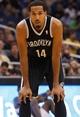 Nov 3, 2013; Orlando, FL, USA; Brooklyn Nets point guard Shaun Livingston (14) against the Orlando Magic during the second half at Amway Center. Mandatory Credit: Kim Klement-USA TODAY Sports