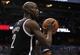 Nov 3, 2013; Orlando, FL, USA; Brooklyn Nets power forward Kevin Garnett (2) against the Orlando Magic during the second half at Amway Center. Mandatory Credit: Kim Klement-USA TODAY Sports