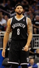 Nov 3, 2013; Orlando, FL, USA; Brooklyn Nets point guard Deron Williams (8) against the Orlando Magic during the second half at Amway Center. Mandatory Credit: Kim Klement-USA TODAY Sports