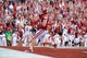 Nov 16, 2013; Norman, OK, USA; Oklahoma Sooners fullback Aaron Ripkowski (48) catches a pass  in the end zone against the Iowa State Cyclones in the second half at Gaylord Family - Oklahoma Memorial Stadium. Mandatory Credit: Mark D. Smith-USA TODAY Sports