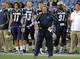 Nov 16, 2013; Foxborough, MA, USA; Akron Zips head coach Terry Bowden reacts on the sidelines during the second half against the Massachusetts Minutemen at Gillette Stadium. Mandatory Credit: Bob DeChiara-USA TODAY Sports
